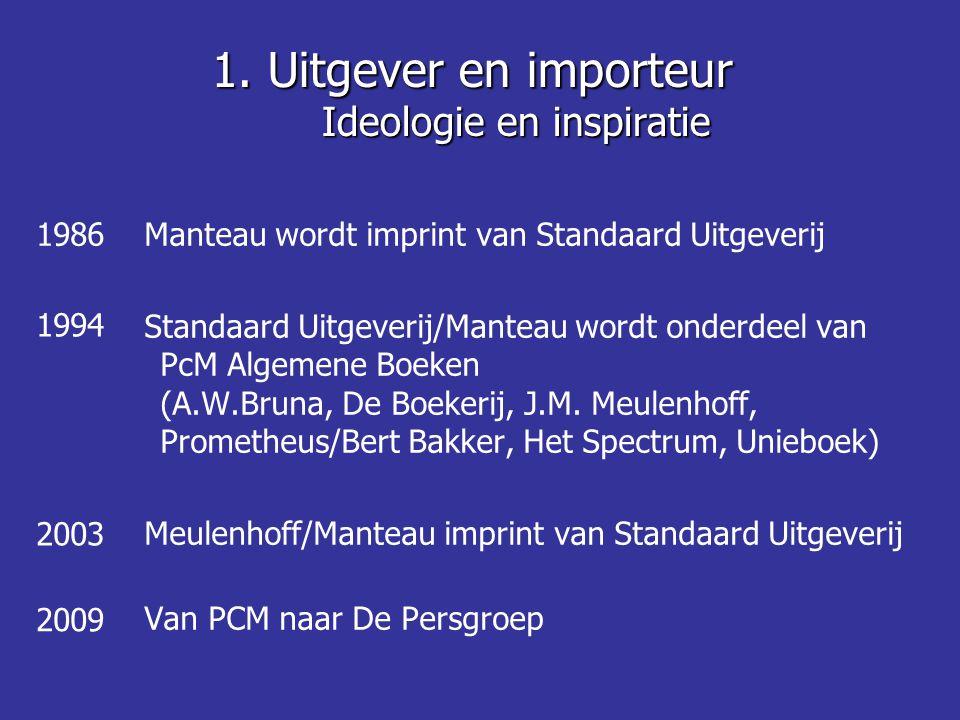 • Economisch kleine sector: +/- 2500 mensen - totaal 315 mio netto omzet • 43 mio exemplaren • S boeken: 70 mio netto • W boeken: 115 mio netto • A boeken: 130 mio netto • Klein speelveld voor de Vlaamse uitgevers (60% 80 mio)  Import noodzakelijk