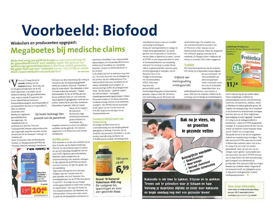 Voorbeeld: Biofood