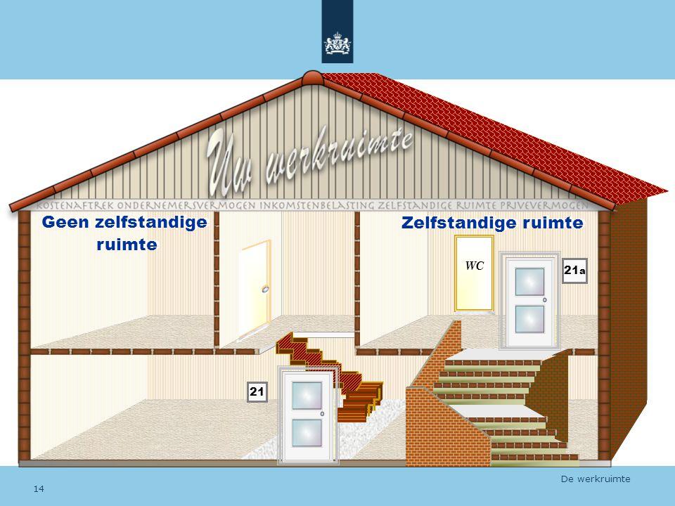WC Geen zelfstandige ruimte Zelfstandige ruimte 21 21 a De werkruimte 14