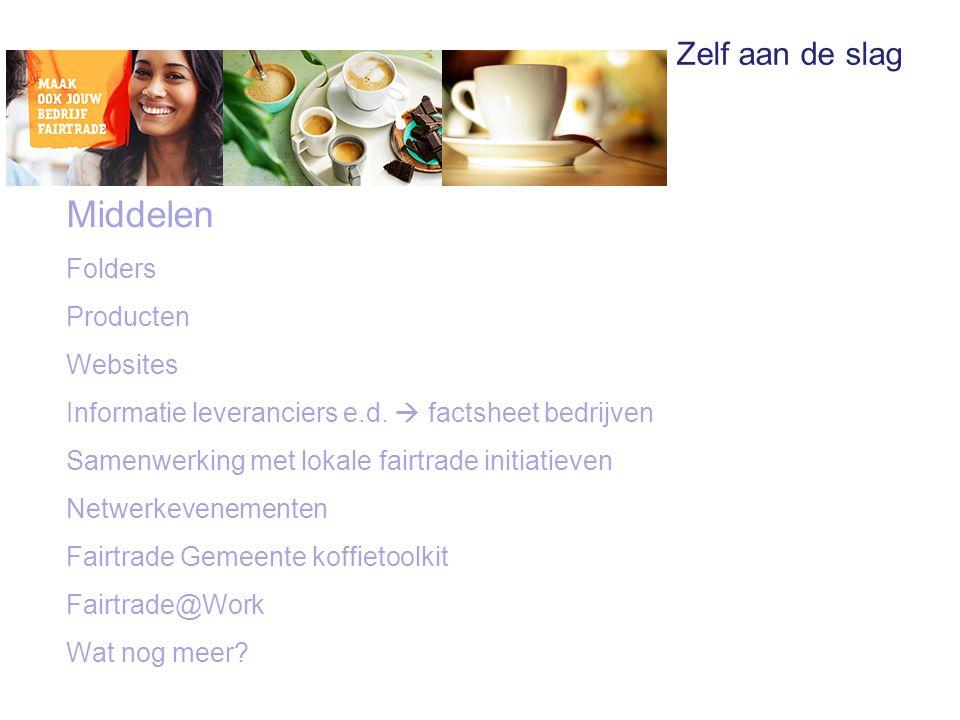 Middelen Folders Producten Websites Informatie leveranciers e.d.