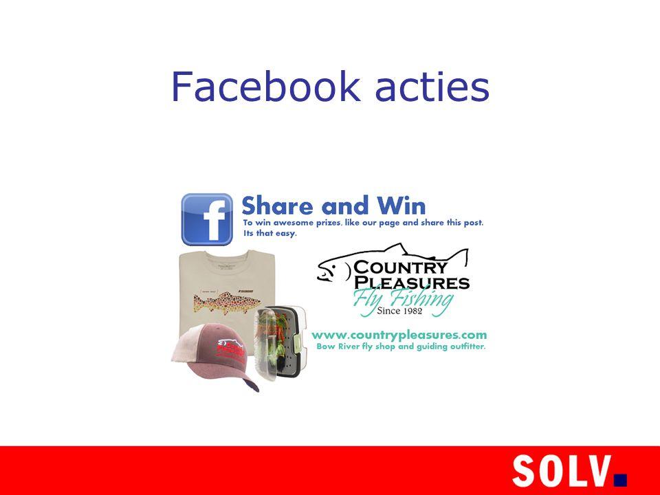 Facebook acties