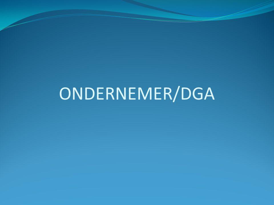 ONDERNEMER/DGA