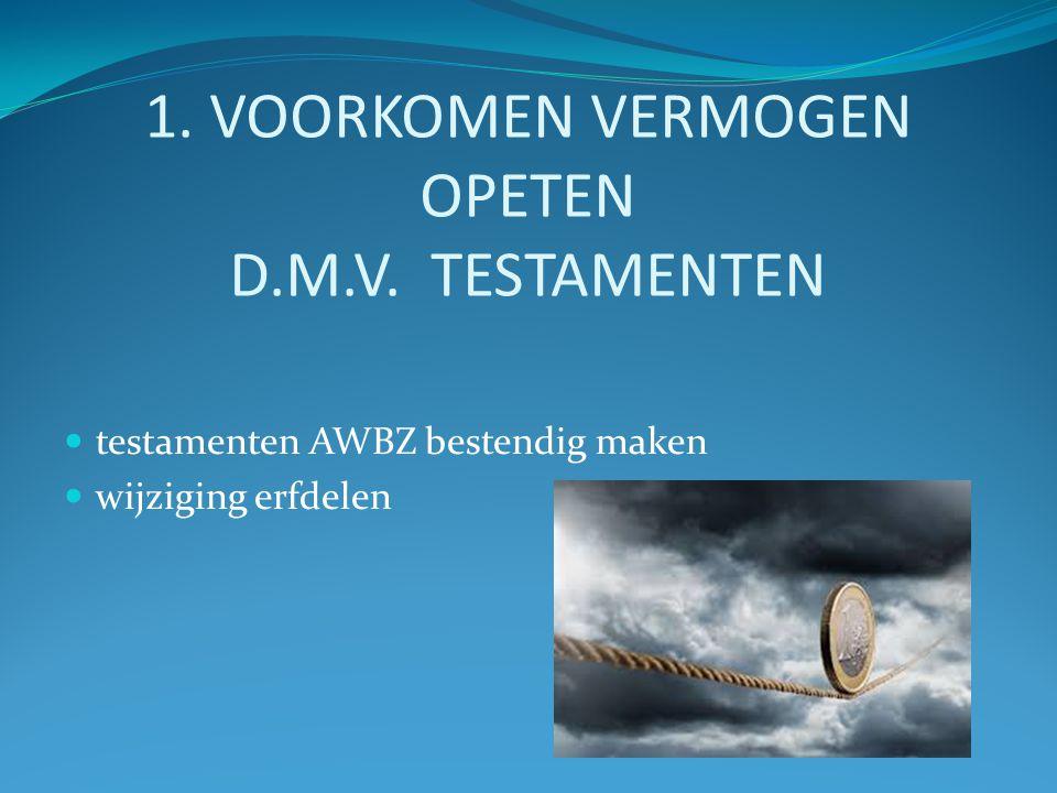 1. VOORKOMEN VERMOGEN OPETEN D.M.V.