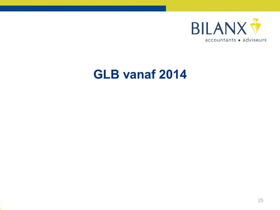 25 GLB vanaf 2014