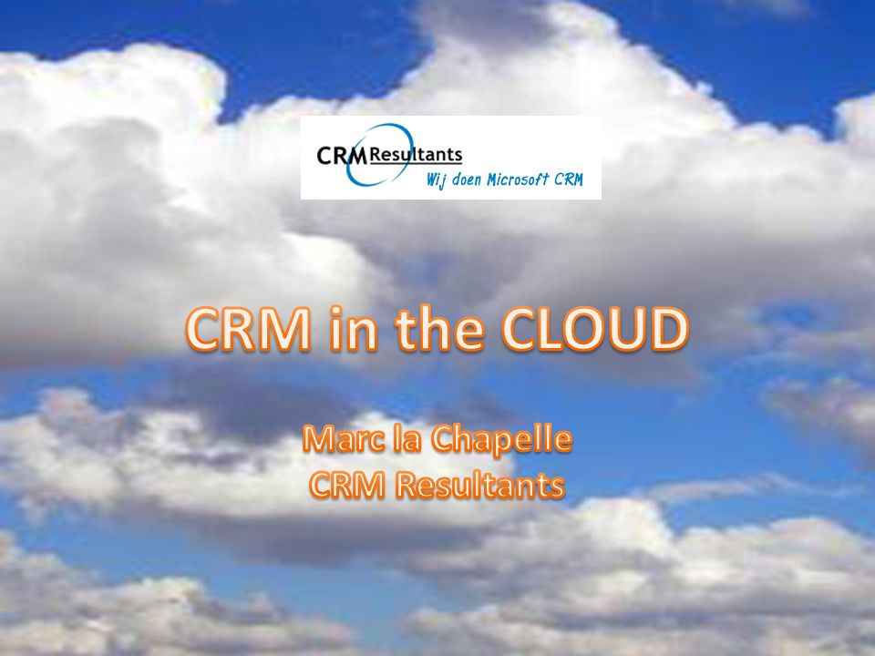 De Cloud komt ongemerkt in ons leven