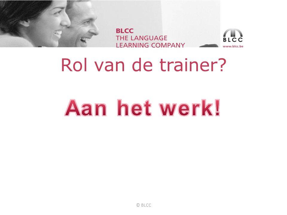Rol van de trainer © BLCC