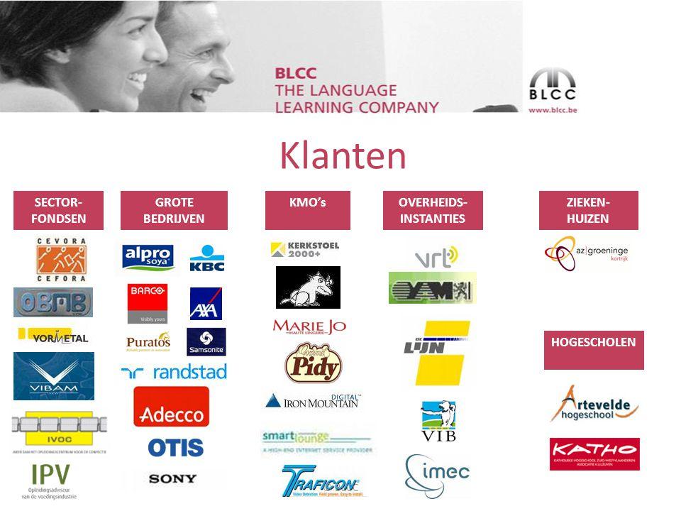 Blended learning @BLCC • 2004: Start verkoop blended learning taalopleidingen • 2011: 80% van opleidingen Frans, Nederlands, Engels en Duits zijn blended © BLCC