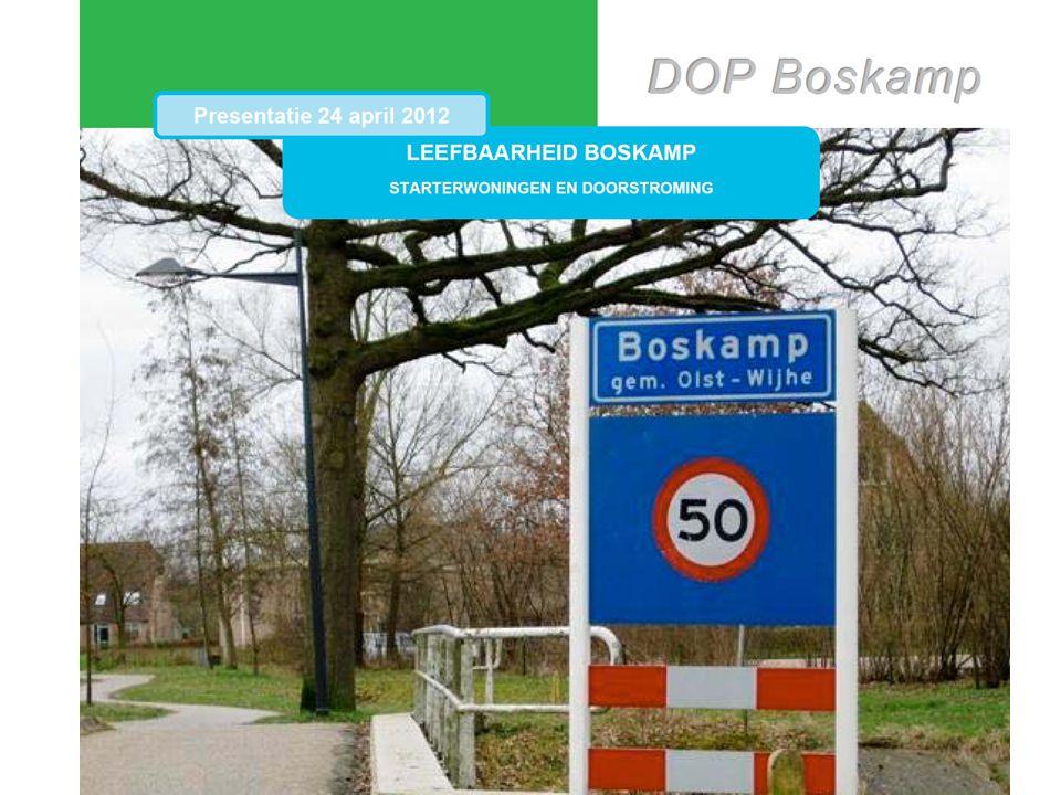 Inhoud van de presentatie • Samenstelling van de (sub)werkgroep Wonen • Geschiedenis Boskamp • Resultaten analyse o.b.v.