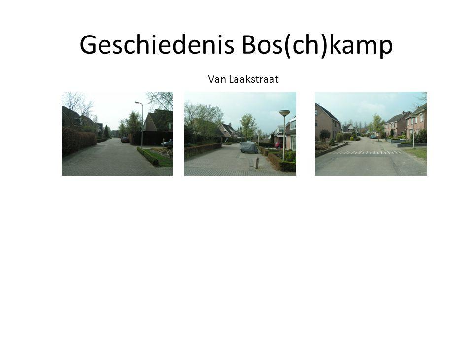 Geschiedenis Bos(ch)kamp Van Laakstraat