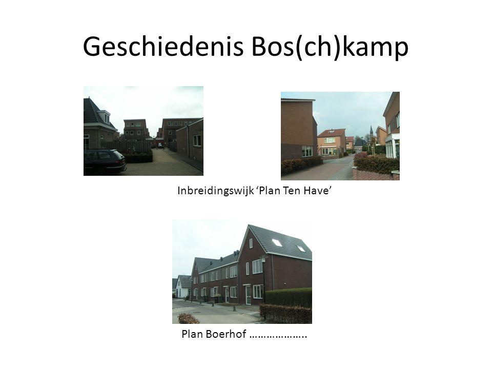 Geschiedenis Bos(ch)kamp Inbreidingswijk 'Plan Ten Have' Plan Boerhof ………………..