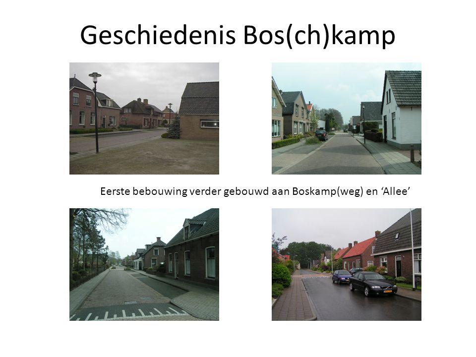 Eerste bebouwing verder gebouwd aan Boskamp(weg) en 'Allee'