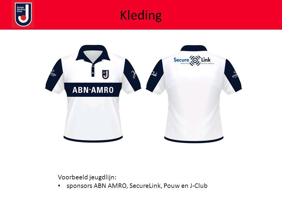 Kleding Voorbeeld jeugdlijn: • sponsors ABN AMRO, SecureLink, Pouw en J-Club