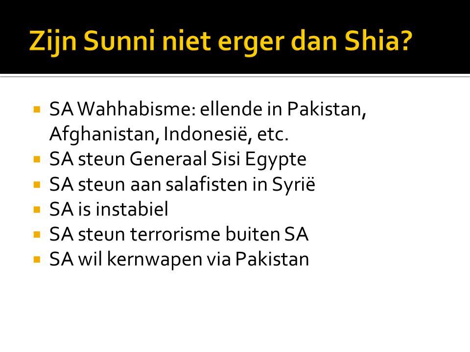  SA Wahhabisme: ellende in Pakistan, Afghanistan, Indonesië, etc.