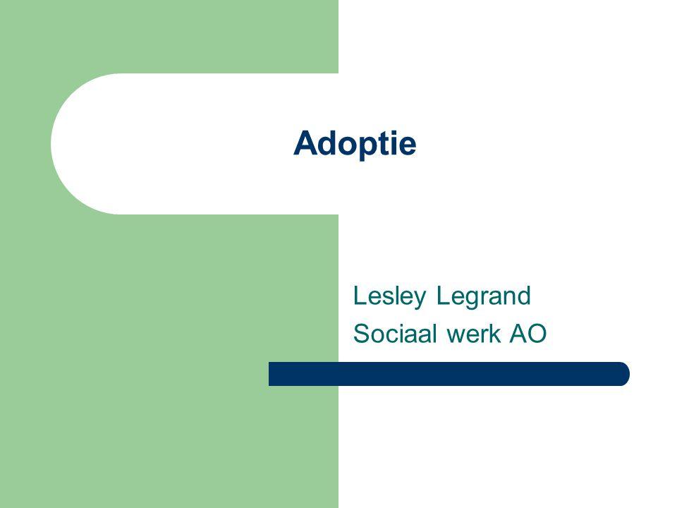 Adoptie Lesley Legrand Sociaal werk AO
