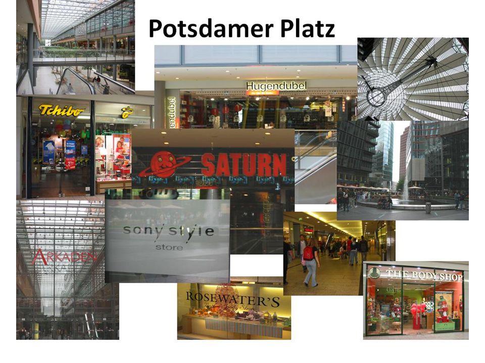 • Winkelconcept: • Identiteitsbepalende winkels (C.E.): Sony Lifestyle Store, Hugendubbel, Saturn Potsdamer Platz WINKELCONCEPT Internationaal, modern
