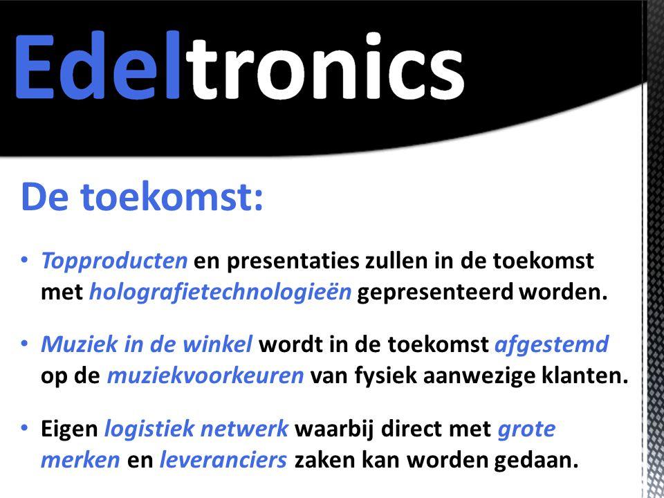 De toekomst: • Topproducten en presentaties zullen in de toekomst met holografietechnologieën gepresenteerd worden.
