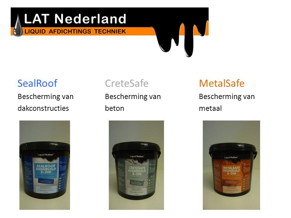 Revolutionaire milieuvriendelijke coatings SealRoof Bescherming van dakconstructies CreteSafe Bescherming van beton MetalSafe Bescherming van metaal