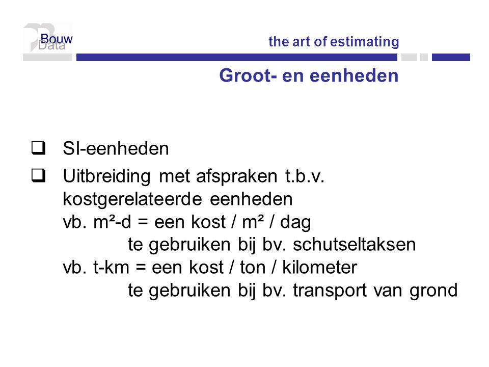 Groot- en eenheden  SI-eenheden  Uitbreiding met afspraken t.b.v.