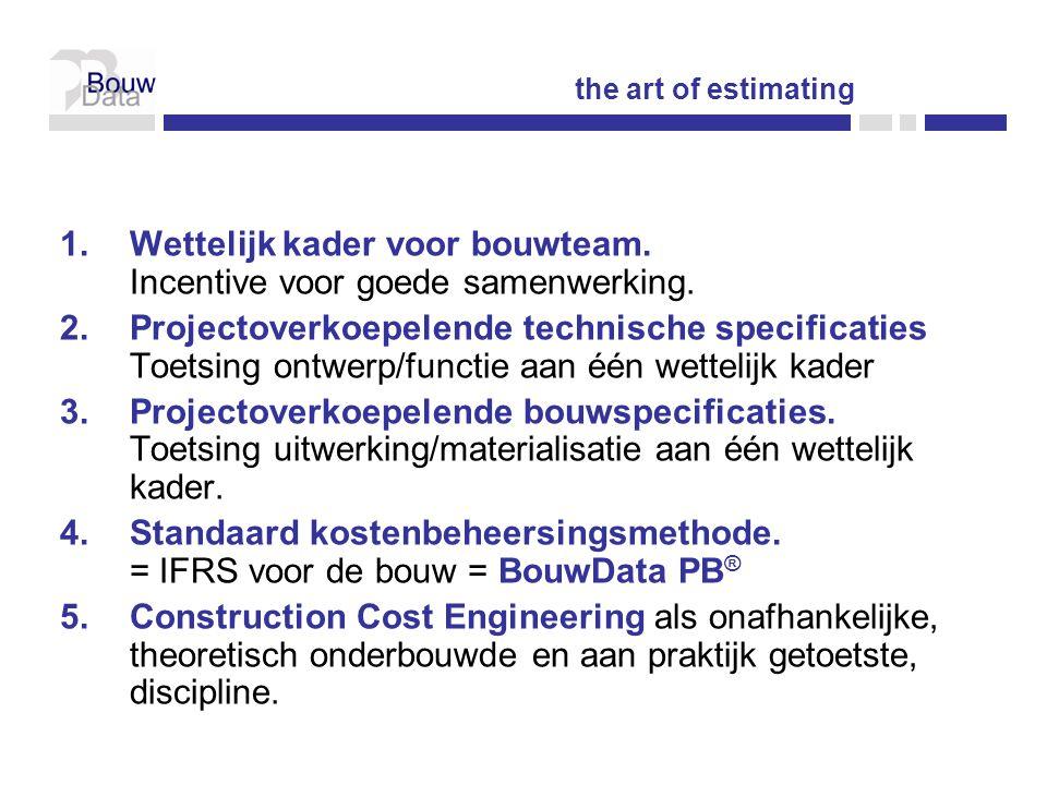 1.Wettelijk kader voor bouwteam.Incentive voor goede samenwerking.