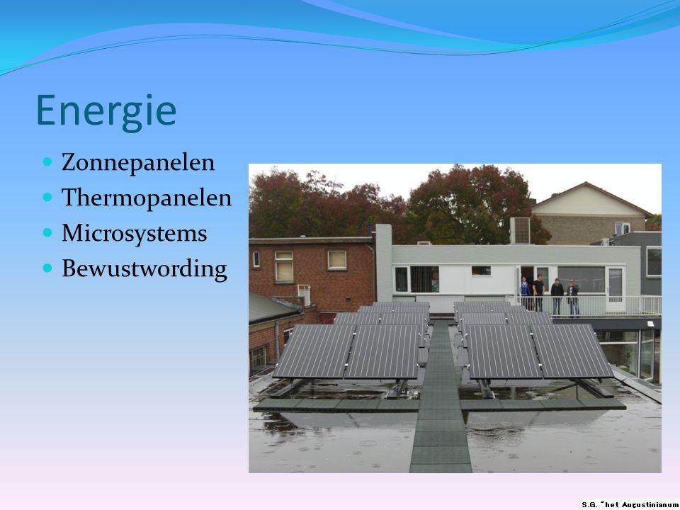 Energie  Zonnepanelen  Thermopanelen  Microsystems  Bewustwording