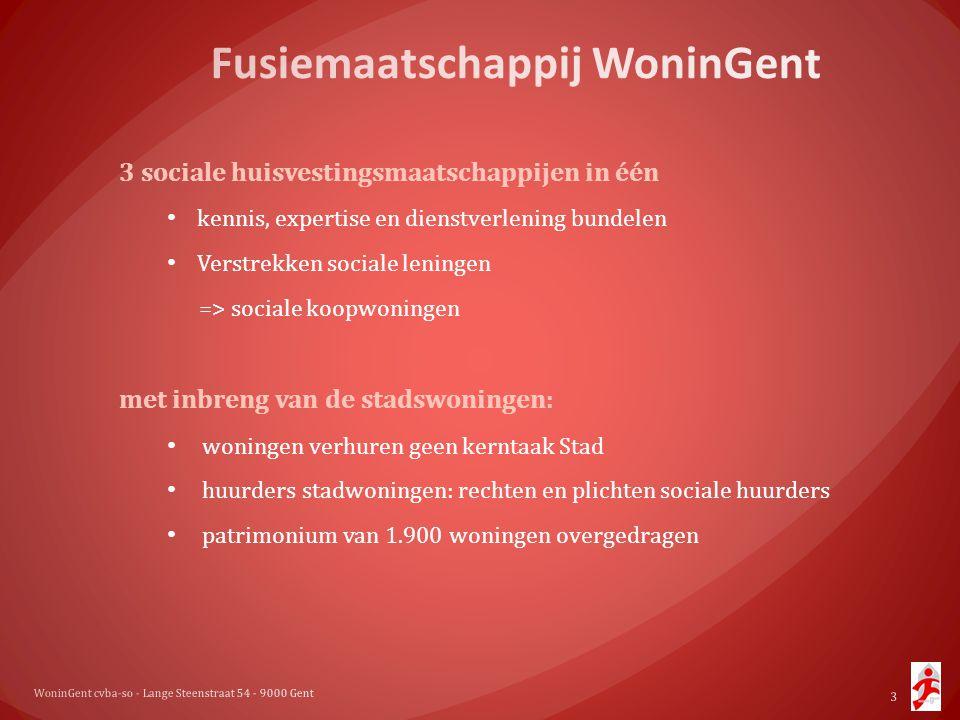 3 sociale huisvestingsmaatschappijen in één • kennis, expertise en dienstverlening bundelen • Verstrekken sociale leningen => sociale koopwoningen met