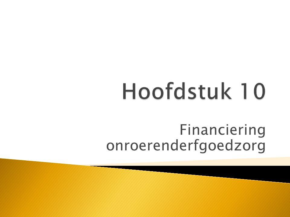 Financiering onroerenderfgoedzorg