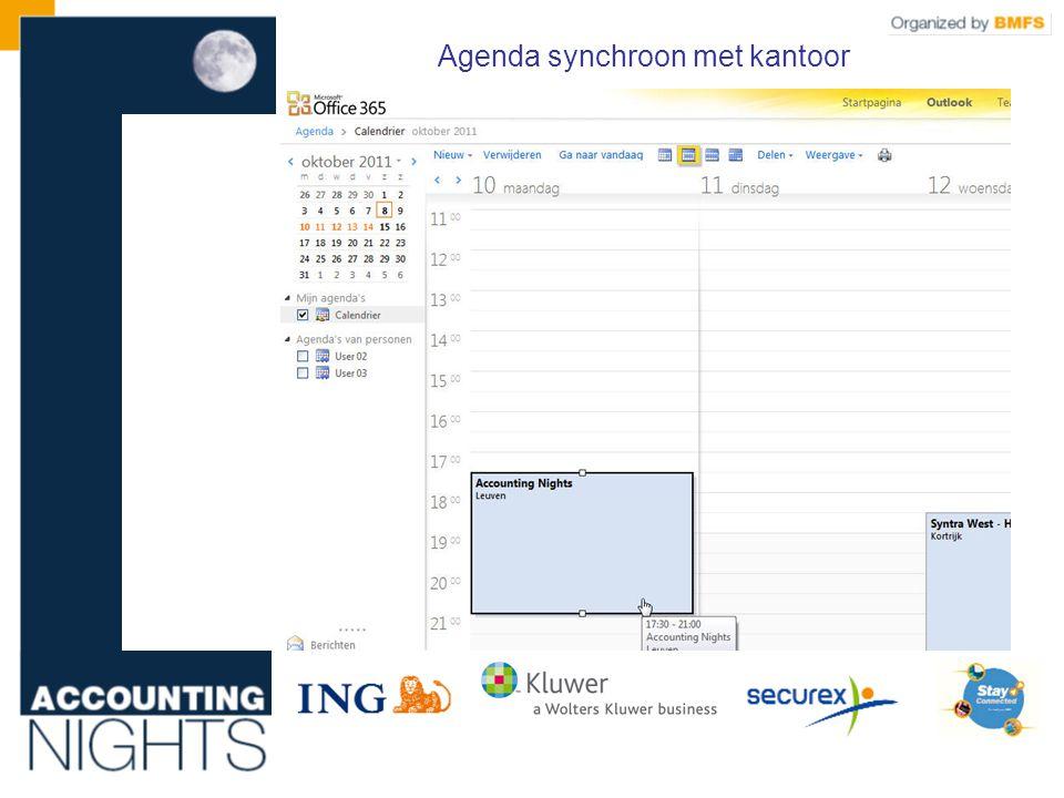 Agenda synchroon met kantoor