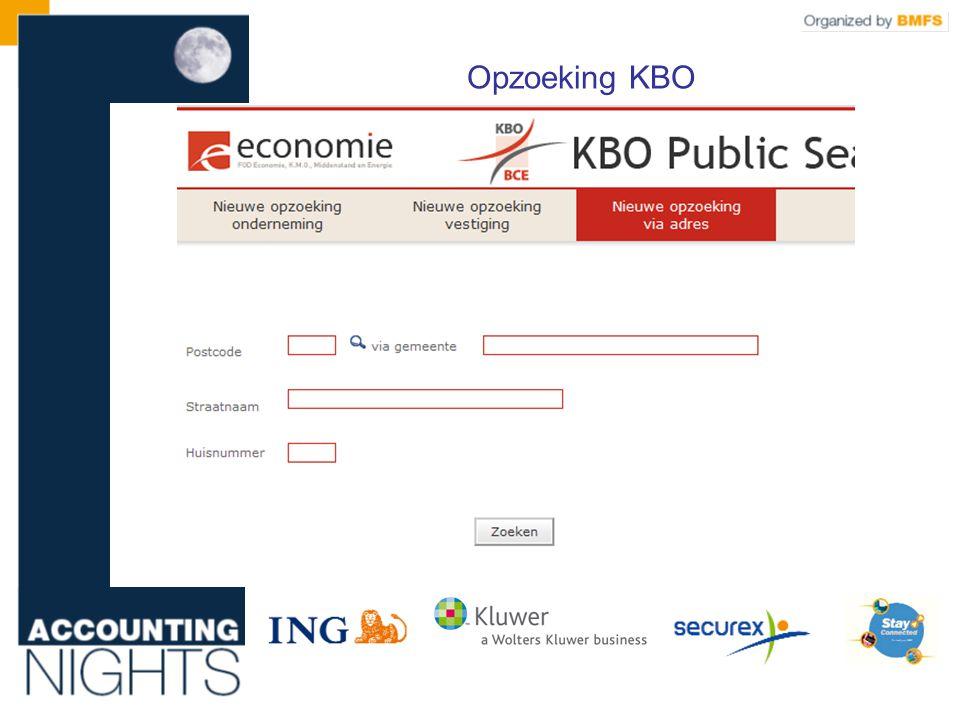Opzoeking KBO