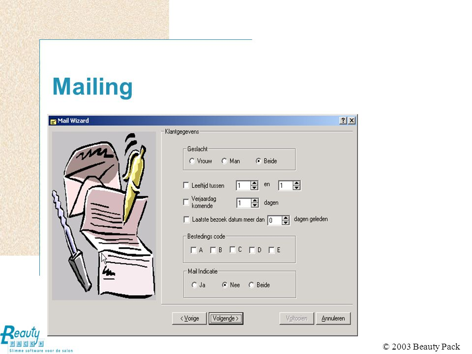 © 2003 Beauty Pack Mailing