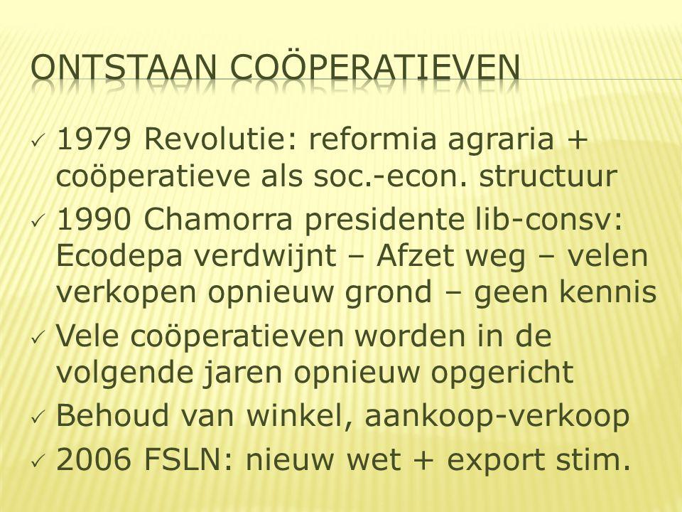  1979 Revolutie: reformia agraria + coöperatieve als soc.-econ.