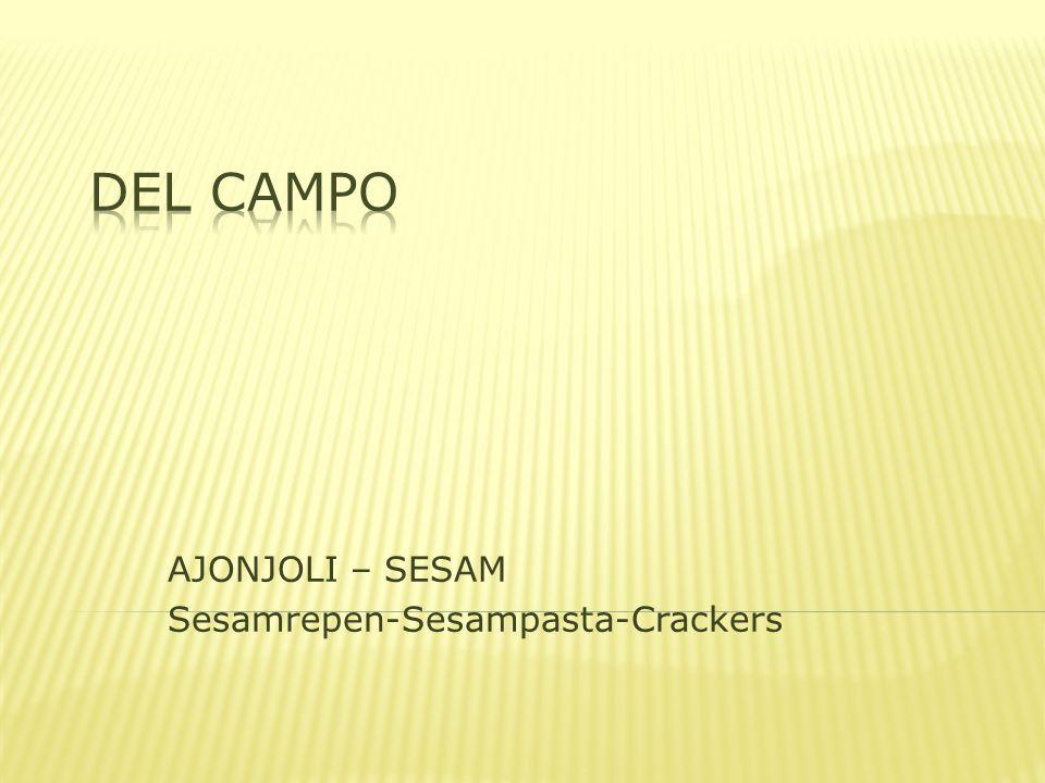 AJONJOLI – SESAM Sesamrepen-Sesampasta-Crackers