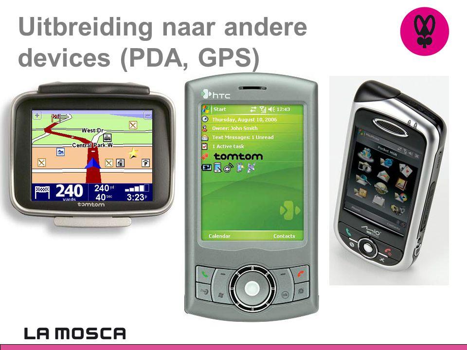 Uitbreiding naar andere devices (PDA, GPS)