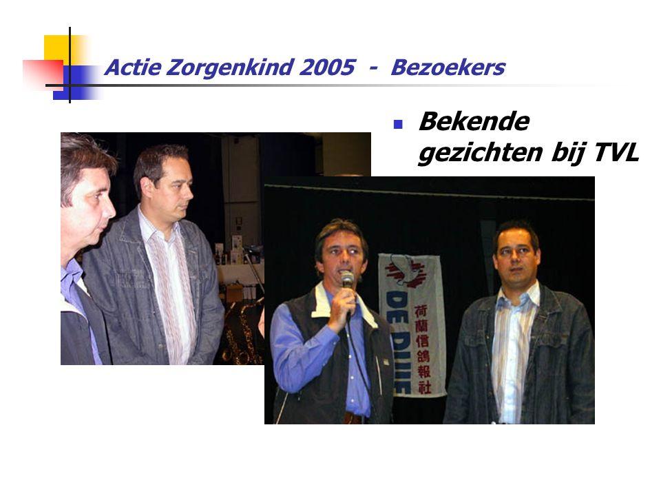 Actie Zorgenkind 2005 - Bezoekers  Bekende gezichten bij TVL