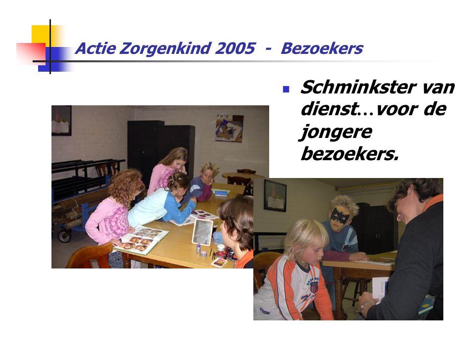 Actie Zorgenkind 2005 - Bezoekers  Schminkster van dienst … voor de jongere bezoekers.