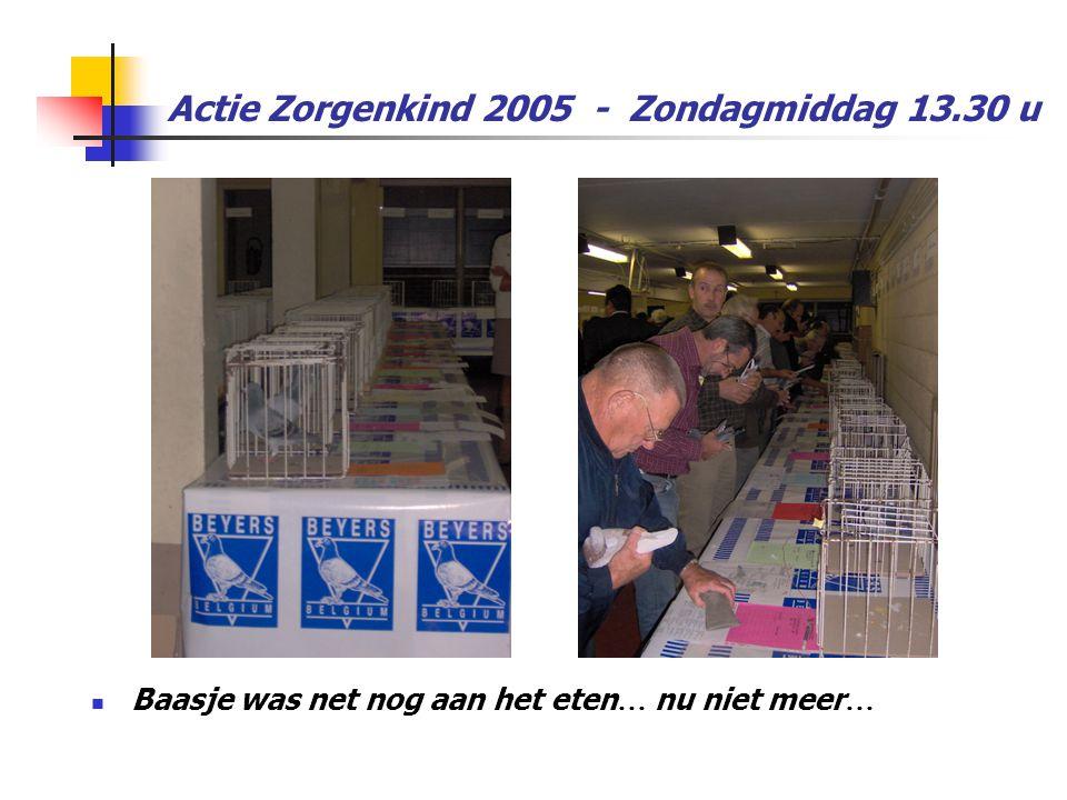Actie Zorgenkind 2005 - Zondagmiddag 13.30 u  Baasje was net nog aan het eten … nu niet meer …