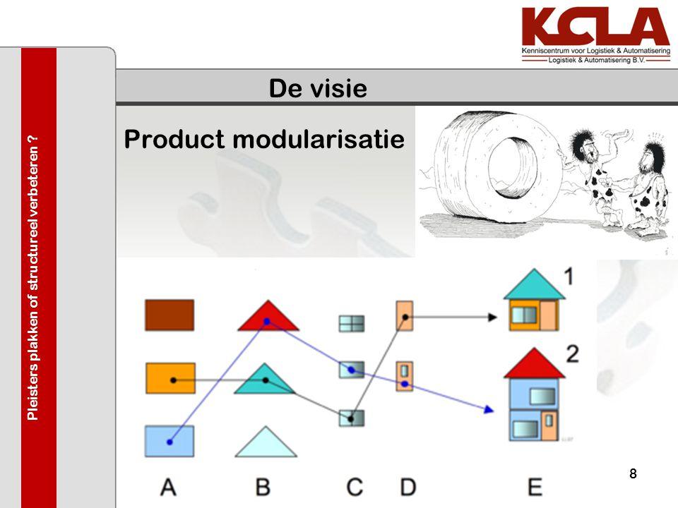 De visie Product modularisatie 03-juni-20098 Pleisters plakken of structureel verbeteren ?