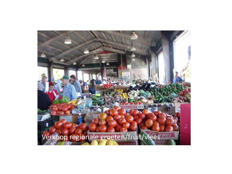 Verkoop regionale groeten/fruit/vlees