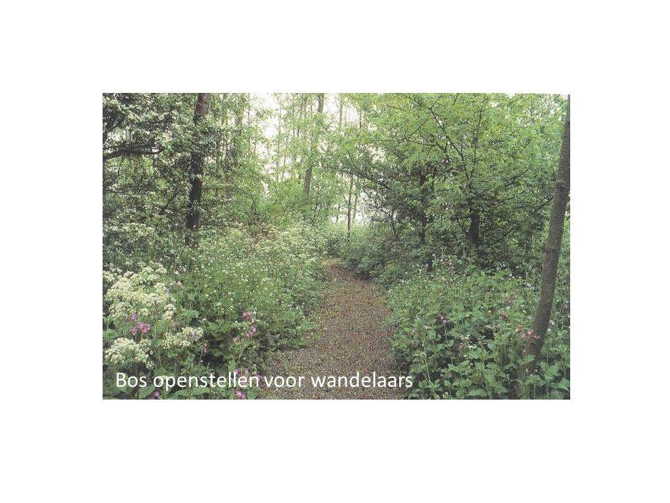 Bos openstellen voor wandelaars