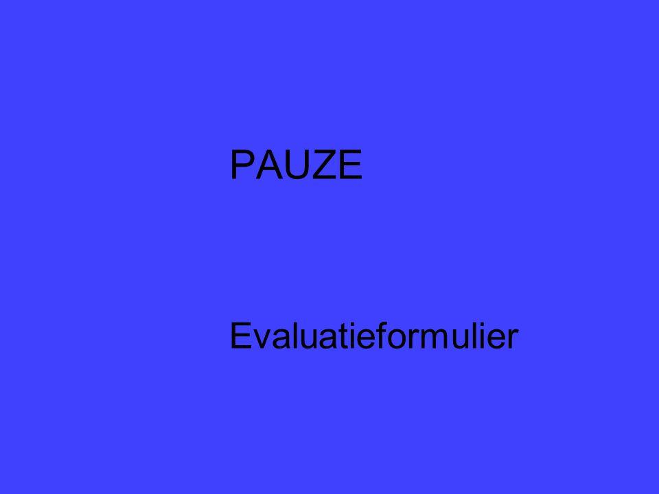 PAUZE Evaluatieformulier