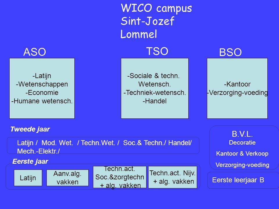 Eerste jaar Tweede jaar WICO campus Sint-Jozef Lommel Eerste leerjaar B B.V.L.