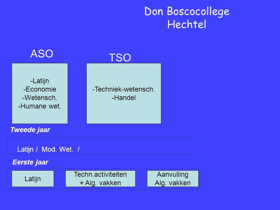 Eerste jaar Tweede jaar Don Boscocollege Hechtel Latijn / Mod.