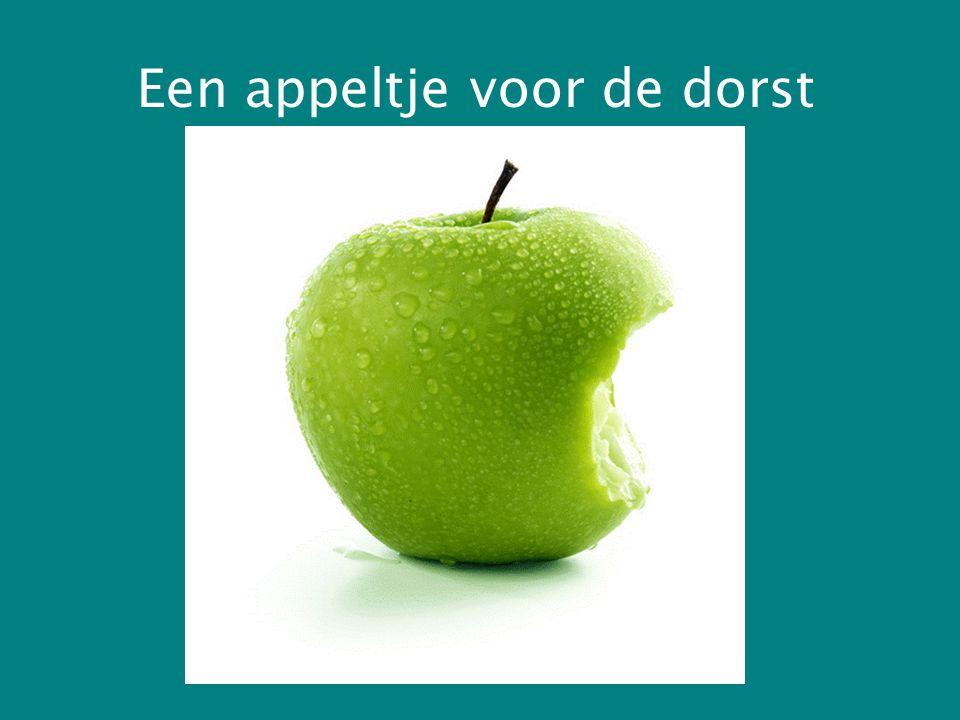 Een appeltje voor de dorst
