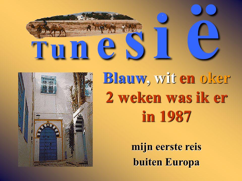 T u n e s i ë Blauw, wit en oker 2 weken was ik er in 1987 mijn eerste reis buiten Europa