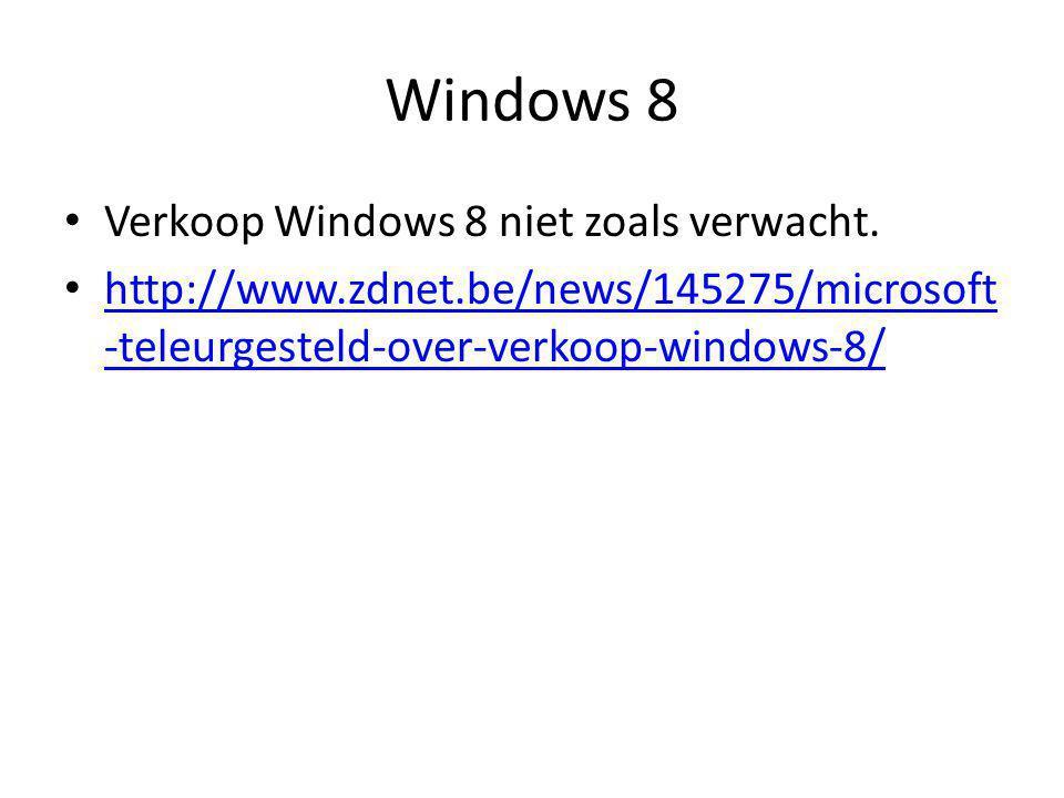 Windows 8 • Verkoop Windows 8 niet zoals verwacht.
