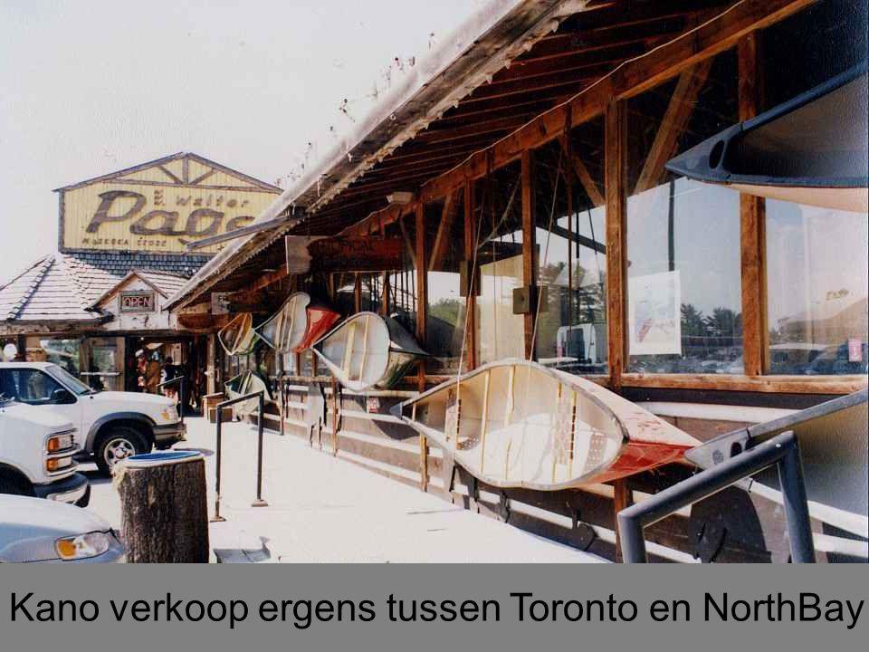 Kano verkoop ergens tussen Toronto en NorthBay
