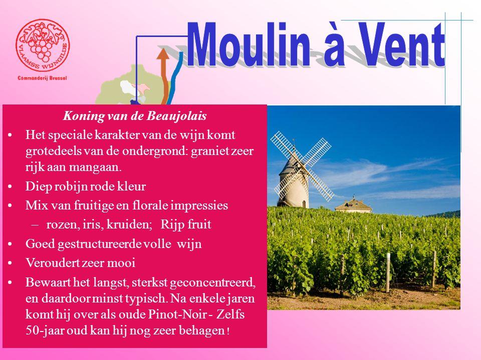 A6 Saône Belleville Le Bois d'oingt Villefranch e Beaujeu Koning van de Beaujolais •Het speciale karakter van de wijn komt grotedeels van de ondergron