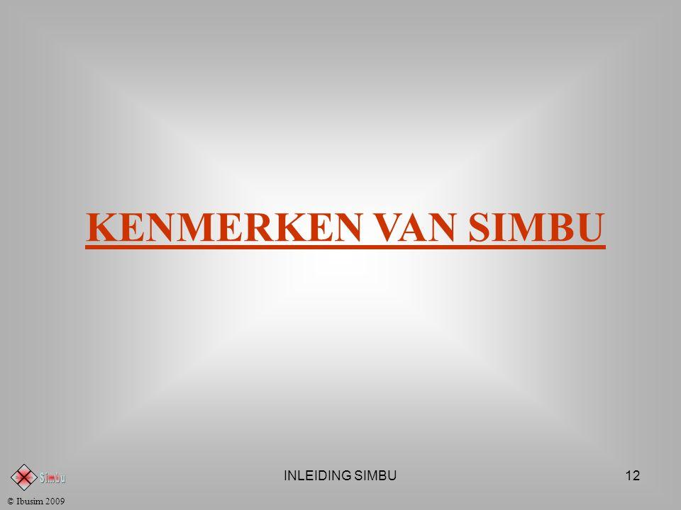 INLEIDING SIMBU11 SIMBU ACTIEBORDEN Financieel Actiebord © Ibusim 2009