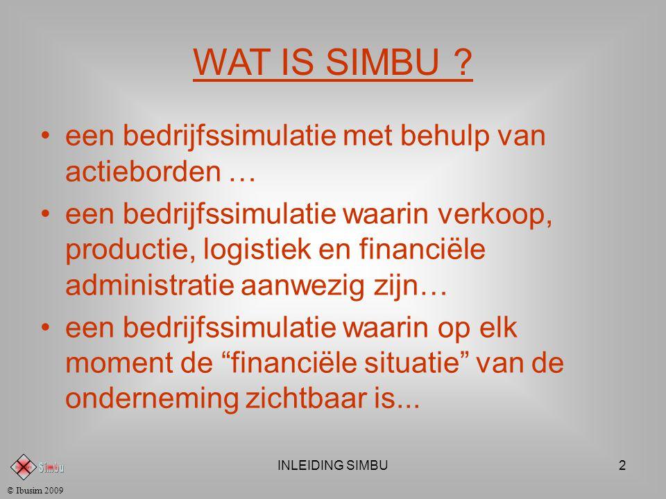 INLEIDING SIMBU2 © Ibusim 2009 WAT IS SIMBU .