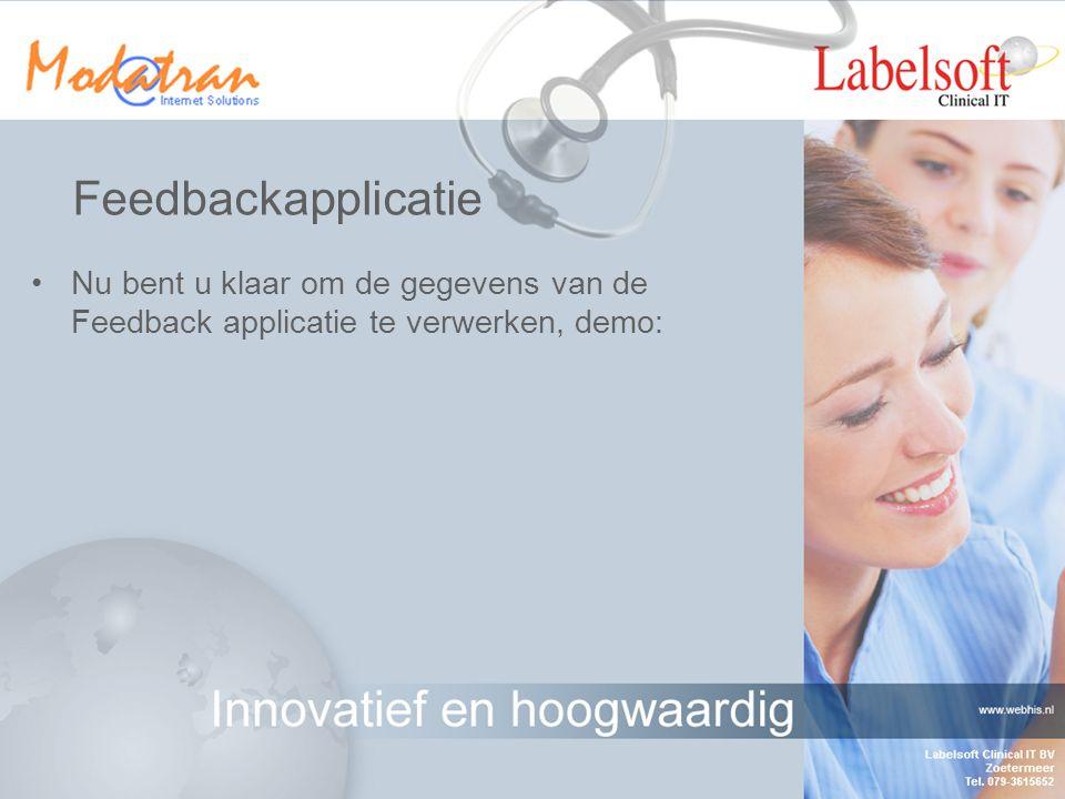 Startscherm Tabblad toont de Casus t.b.v. feedback van de huisarts aan de autorisatie arts Tabblad toont de ontvangen feedback van de desbetreffende a