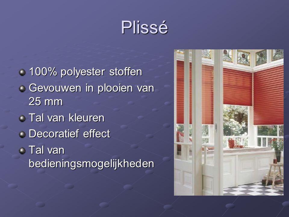 Plissé 100% polyester stoffen Gevouwen in plooien van 25 mm Tal van kleuren Decoratief effect Tal van bedieningsmogelijkheden